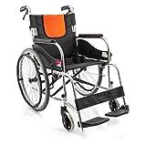 T-Rollstühle Aluminiumlegierungsrollstuhl, älterer Leichter Rollstuhl, Falten, manueller Rollstuhl, Kein aufblasbares