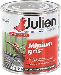 Julien - Antirouille minium gris / Boite 250 ml