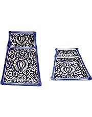 "Caffeine Ceramic Handmade Snack Platters 11"" (Set of 2)"