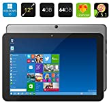 "Chuwi Hi12 - 12"" Tablet PC para Windows 10 y Android 5.1 (Quad Core, 4GB RAM 64 GB ROM, Extención hasta 128GB, 2160*1440P, Cámaras, 3G USB Dongle), Gris"