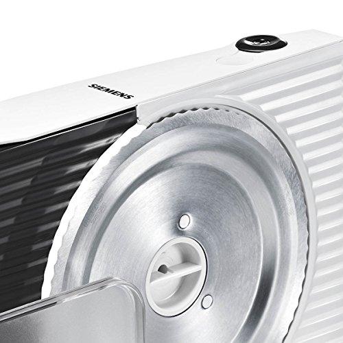 Siemens MS4000W Allesschneider Universal-Wellenschliffmesser, klappbar, 100 W, weiss / anthrazit -