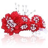 KPHY-La Mariée De Mariage De Fleurs en Tissu des Ornements pour Cheveux D'Artisanat De Perles De Perles De Très Bonne Qualité CoiffureDe Gueules