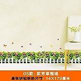 SMNCNL Wand - Blume Garten Zaun Linie selbst Fußleisten Kleber Aufkleber Schmetterling Hintergrundbild Dekorationen, Fang-Wand.