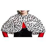 Déguisement de la femme cruelle avec cette petite cape couvre épaules aux motifs dalmatien pour enfant. Ideal pour les fêtes de fin d'école.