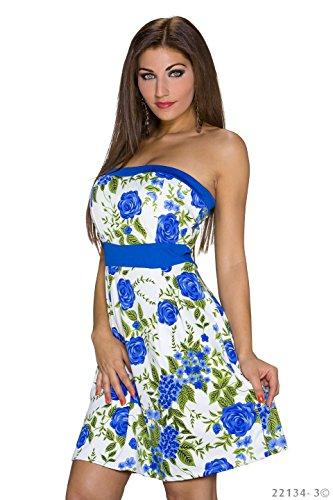 Italy Moda Damen Bandeau Kleid Blau - Blau