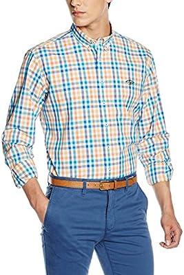 Spagnolo, Camisa Popelin Alg. Banderas 0668 - Camisa para hombre