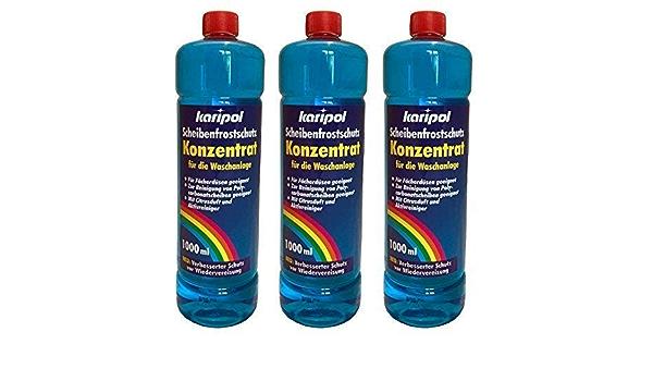 3 X 1liter Karipol Scheibenfrostschutz Konzentrat Für Waschanlage Frostschutzmittel Auto