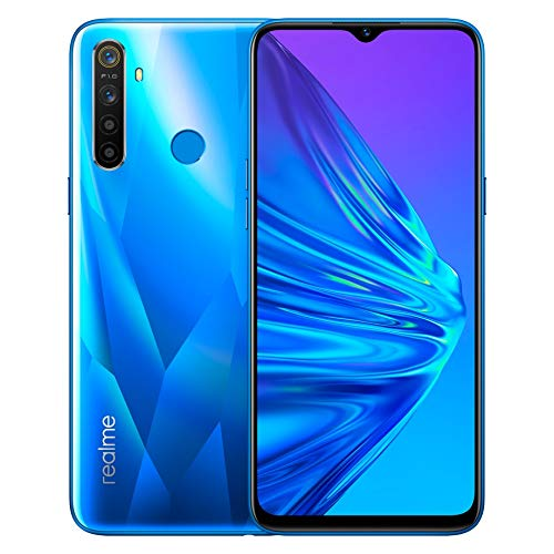 realme 5 Smartphone Móvil, 3 GB RAM 64 GB ROM 6.5' Snapdragon 665 AIE 12MP AI Quad Camera, European Version (Azul)