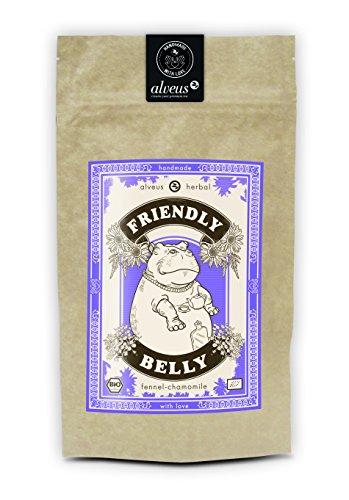 alveus Friendly Belly Herbal ORGANIC: Lose Teemischung mit Melisse, Kamille, Fenchel, Süßholzwurzel, Anis, Kümmel, Karotte, Pfefferminze und...