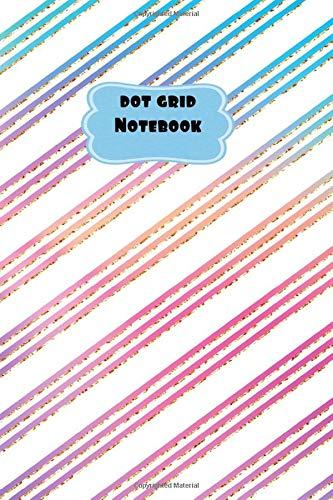 Diagonal Dots (Dot Grid Notebook: Pink, Purple and Blue Diagonal Striped Theme-6 x 9