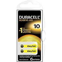 Duracell 96077559 Hearing Aid, Confezione da 6 Batterie per l'Udito, Taglia 10