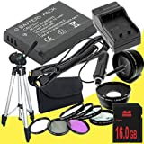 Canon EOS M 18 MP CMOS Mirrorless Digital SLR Camera LP-E12 Lithium Ion Replacement Battery + External Rapid Charger + 16GB SDHC Class 10 Memory Card + 43mm 3 Piece Filter Kit + Full Size Tripod + 58mm Macro Close Up Kit + Wide Angle / Telephoto Lenses +