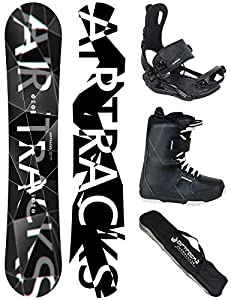 Airtracks Snowboard Set - Wide Board REFRACTIONS Game 159 - Softbindung...