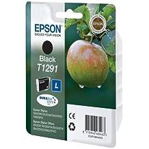 Epson Singlepack Black T1291 DURABrite Ultra Ink - Cartucho de tinta para impresoras (Negro, Inyección de tinta, 11.2 ml)