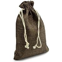 Set di 24 sacchetti in juta, sacchetto per regali in materiale naturale - marca Ganzoo Dunkelbraun - Regalo Materiale