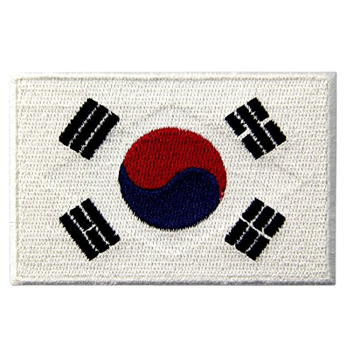 South Korea National Flag Embroidered Korean State Emblem Iron On Sew On Patch