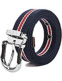Lannister Fashion Cinturón De Lona De Los Hombres Cinturón Estudiante  Regalos De Casual Pin Hebilla Cinturón De Tela… 8d13262999a1