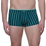 bruno banani Herren Hüft-Shorts Hipshort Jail, Grün (petrolgrün/Jade Stripes 2315), Medium