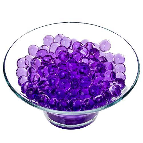 Trimming Shop Klare Wasser-Gelkugeln, 20 Packungen, für Kristallboden-Effekt, Bio-Gel-Perlen, für Hochzeitsvasen oder als Tischdekoration violett
