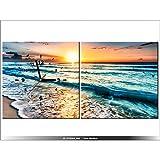 Art-Gallery XXL–80x 40cm–de puesta de sol–playa–paisaje vacaciones–Reloj de pared cuadro–Deco moderno–New Design