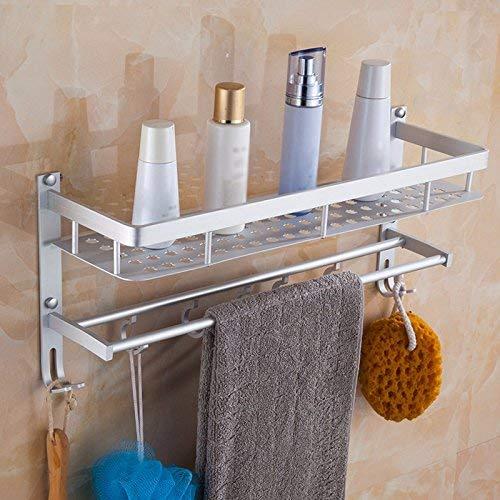 QAZ Handtuchhalter Material Aluminium Badezimmer Regal An Der Wand Montierten Haken 42 cm Handtuch Rack - Montierten 42