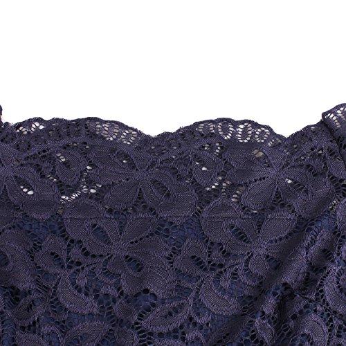 DISSA VM1519 Vintage pin-up 50's 60's Robe de Soiré,Bal cocktail Rockabilly Swing femme Bleu