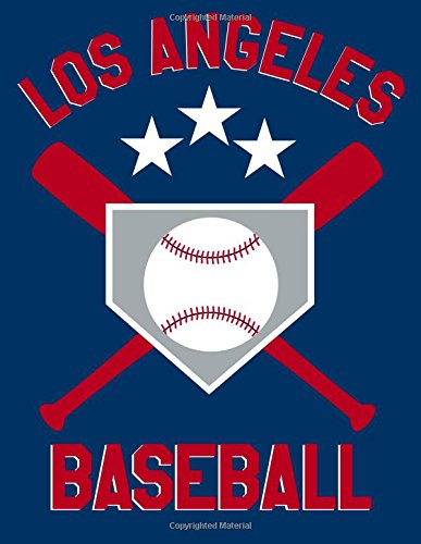 Los Angeles Baseball: Blanked Lined 100 Page 8.5 x 11 inch Notebook Journal for Writing and Taking Notes por Rob Ventana