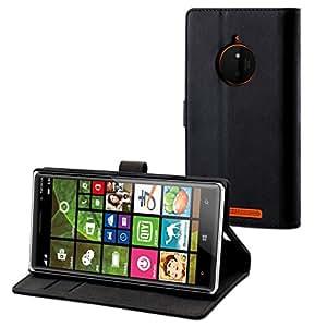 Muvit MUSLI0610 Etui folio slim pour Nokia Lumia 830 Design S-View Noir