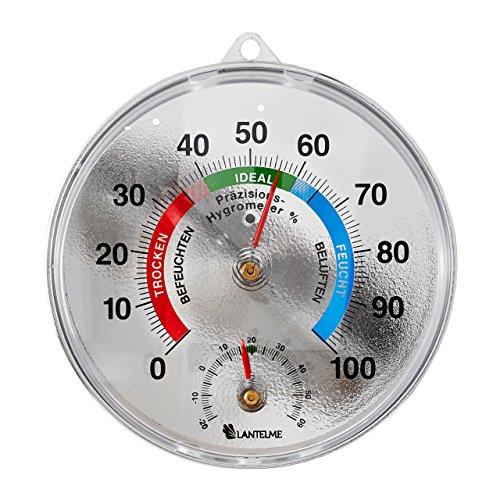 lantelme-precisione-termometro-igrometro-cromato-dispositivo-combinato-per-interno-o-esterno-spazio-
