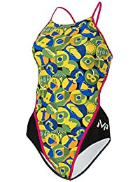 MP Michael Phelps Girls Carimbo Openback Swimsuit Size 26