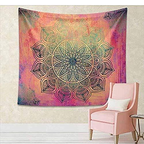 Tapisserie Mandala Tapisserie Gobelin Wandbehang Floral Tapisserie Stoff Hippie Boho Tagesdecke Tischdecken [Senden von Zubehör] -