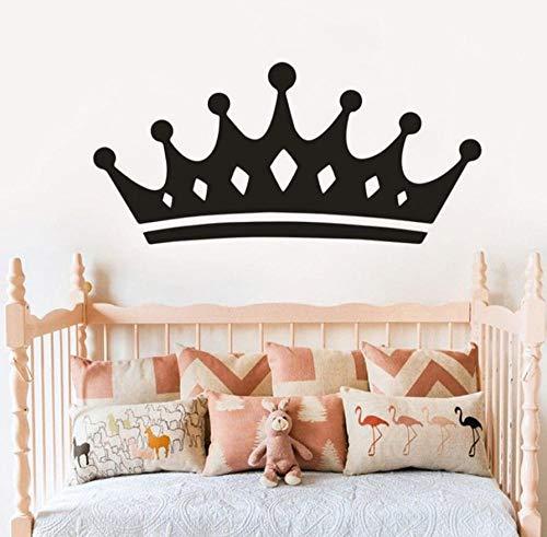 CQAZX Prinzessin Crown Vinyl Wandaufkleber Mädchen Schlafzimmer Dekor Königin Crown Wandkunst Aufkleber Abnehmbare Kronen Wandbild Vinyl Kunst90 *42 cm - Krone-schlafzimmer-möbel
