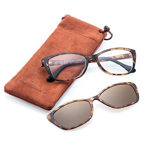 bifocales Gafas Gafas de Lectura Mujer Magnético con sol Clip