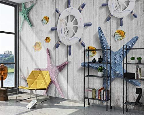 2019 Benutzerdefinierte Wallpaper Home Dekorative Wand 3d Horizontal Mediterranen Stil Seestern TV Sofa Hintergrund wand 3d wallpaper-280X200CM (Horizontale Wallpaper)