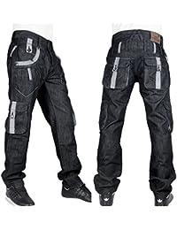Peviani Hommes g jeans combat, cargo Étoile noire hip hop droite-en vrac stf jeans