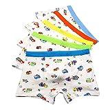 CHIC-CHIC Boxer Slip Lot de 5 Garçon Bébé Enfant Culotte Pantalon Sous-Vêtement en Coton Motif Mignon Voiture 5-7ans #A