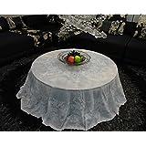 Hyun times mantel de encaje redondo de plástico de PVC tela de mesa de hotel restaurante manteles manteles de hoteles bronceadores impermeable ( Tamaño : 152 )