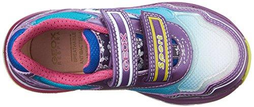 Geox J Top Fly Girl A, Scarpe da Ginnastica Bambina Multicolore (Purple/Turquoise C8123)