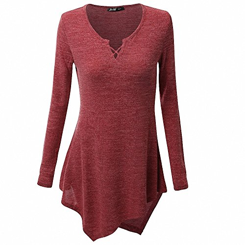 AILEESE Women Casual Jumper Shirt Dress Long Sleeve Tops Oversized Sweater Pullover Loose Sexy Sweatshirt