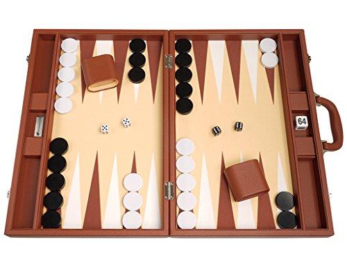 Juego de Backgammon Premium de 48 x 64 cm - Desert Brown