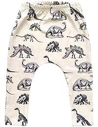 Dinosaurios De ImpresiÓN De Los Pantalones Del Niño Del Cabrito Boy Dinosaurios ImpresiÓN De La Elasticidad De Los Pantalones Largos Precioso Harem Pantalones