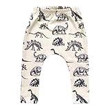 Dinosaurios De ImpresiÓN De Los Pantalones Del Niño Del Cabrito Boy Dinosaurios ImpresiÓN De La Elasticidad De Los Pantalones Largos Precioso Harem Pantalones (100)
