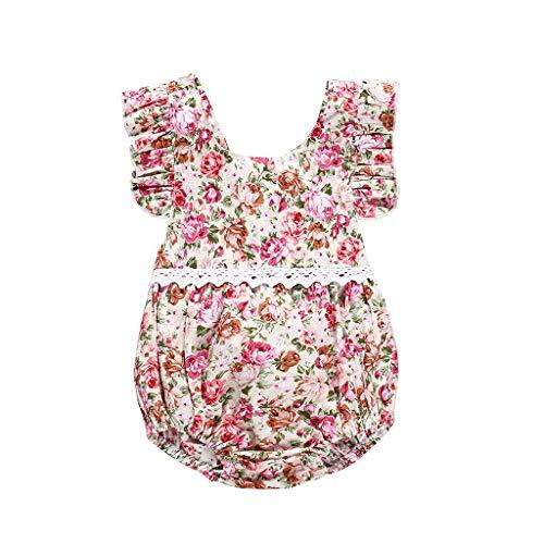 glingsspielanzug Kinder Drucken Fliegen Ärmel Kurzarm Strampler Neugeborenes Kleidung Sommer Baby Outfits Spielanzug ()