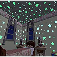 SAYGOGO Wall Sticker, Star luminous sticker, Glow in The Dark Stars Wall Stickers for Ceiling or Wall, Decor For Kids Bedroom or Birthday Gift, Beautiful Wall Decals for any Room , 300 pcs