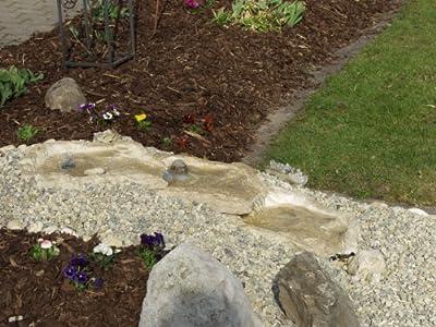 Wasserkaskaden Quellschale Eder Quelle, Beige/Braun, 53 x 40 x 8 cm von wasserkaskaden - Du und dein Garten