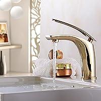 XXTT-Miscelatore lavabo High-end atmosfera del rubinetto di lavabo placcati in oro Rubinetto del bagno