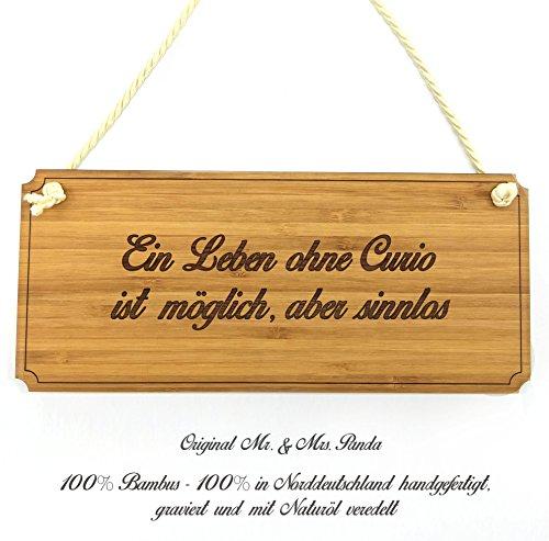 Mr. & Mrs. Panda Türschild Stadt Curio Classic Schild - Gravur,Graviert Türschild,Tür Schild,Schild, Fan, Fanartikel, Souvenir, Andenken, Fanclub, Stadt, Mitbringsel -