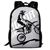 Schulrucksack Motocross-stilisiertes Symbol Rucksack wasserdichte Schultaschen Durable Travel...