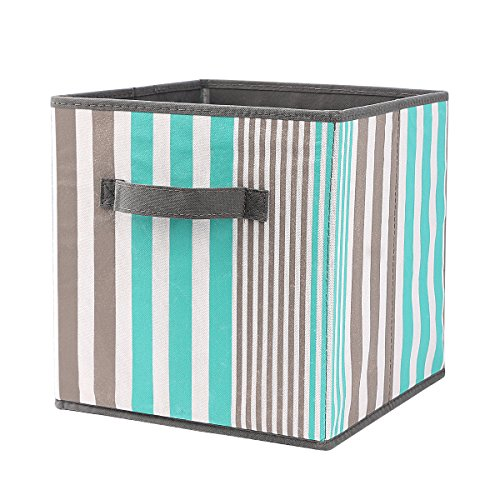 Faltbare Aufbewahrungsbox Faltbox mit Zwei Griffe, Zusammenklappbare Faltbare Lagerung Bins Box für Wäsche und Aufbewahrung Kiste Stoffbox Verwendbare Stoffkiste Schublade Schlafzimmer Wohnzimmer Um Darin Spielzeug Bettwäsche Kleidung Bücher Dvds