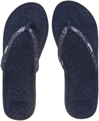 ESPRIT Damen Alice Glitter Pantoletten, Blau (Dark Blue), 39 EU
